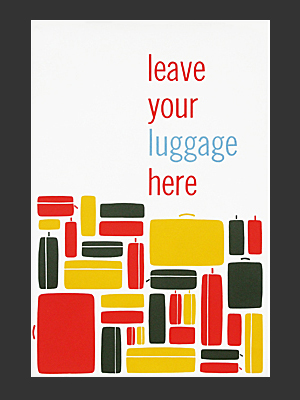 Christopher Hill Luggage Poster