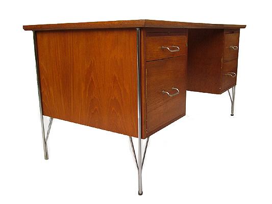 1980u2032s Burr Walnut Ambassador Desk By HK Furniture, UK.
