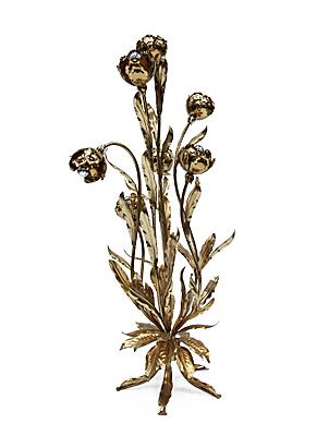 Gold flower lamp