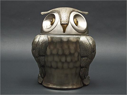 Pewtertone Owl Cooler