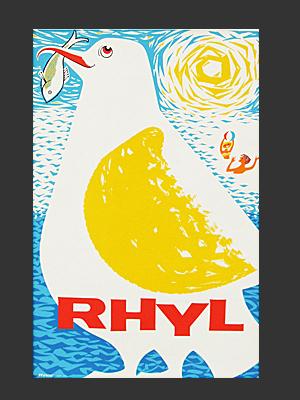Rhyl gull poster