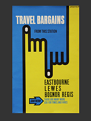 Travel bargains poster