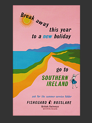 Southern Ireland Poster pink