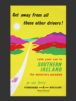 Southern Ireland Poster yellow