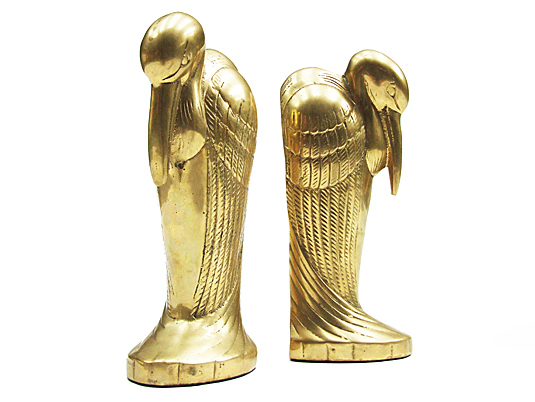 Brass Animal Bookends: 1930 – 1970 Vintage Bookends