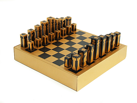 Gold Aluminium Chess Set