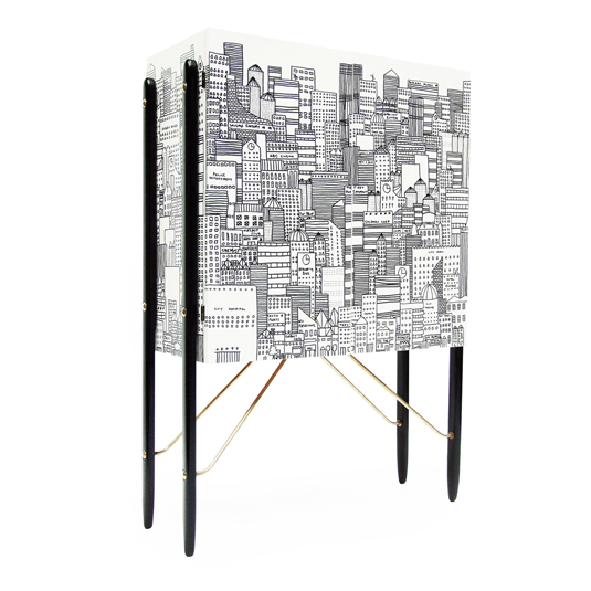 Metropolis Cocktail Cabinet1